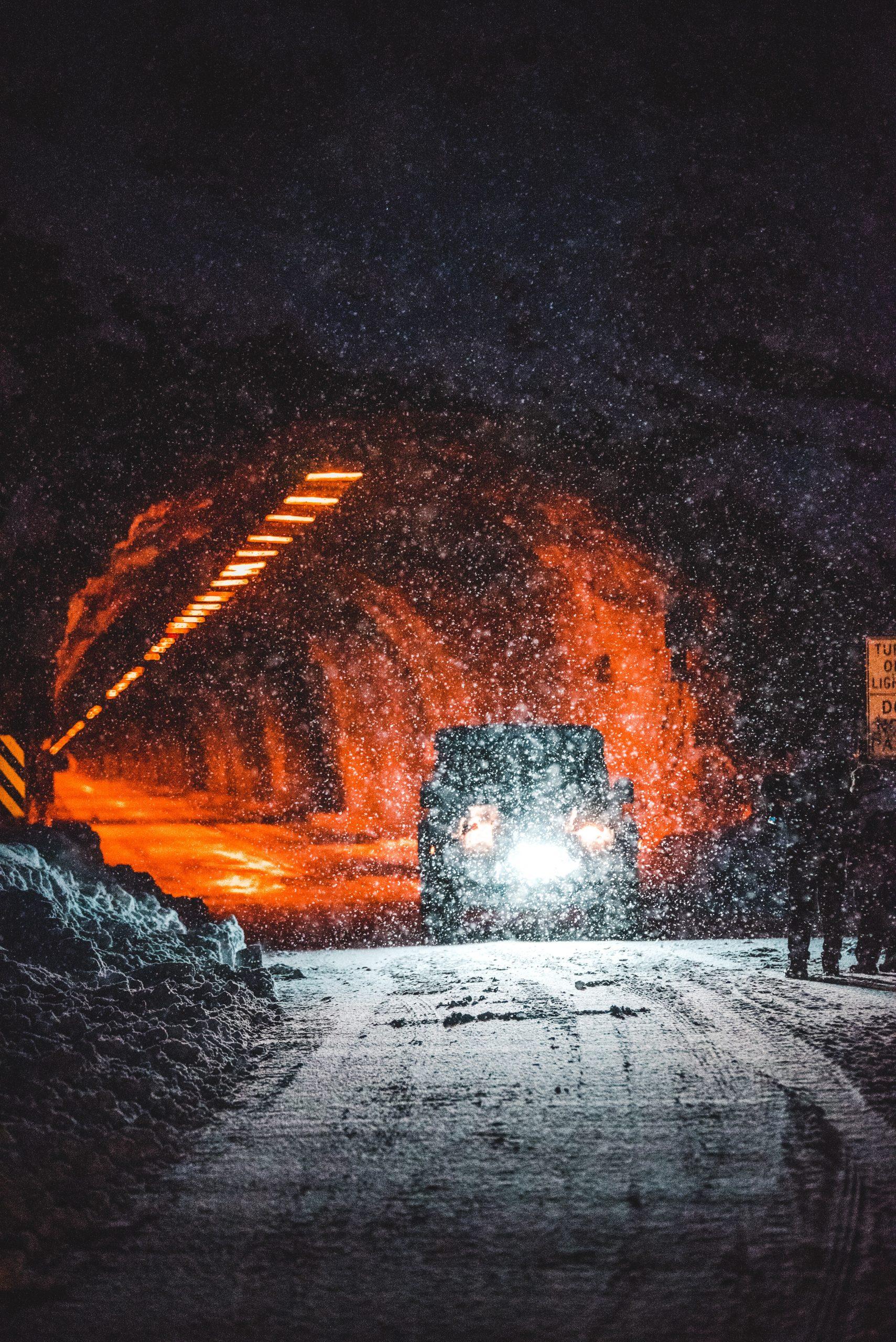 snow tunnel